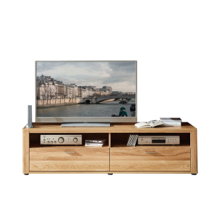 Wohn-Concept Opal Lowboard 4202HH31 in Wildeiche teilmassiv mit Klappe Schubkasten und offenen Fächern für Wohnzimmer oder Gästezimmer