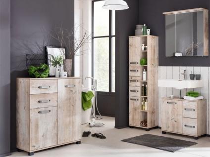 W. Schildmeyer Möbel Milan Badmöbel Set 4-tlg. für Badezimmer mit Spiegelschrank Highboard Waschbeckenunterschrank und Hochschrank