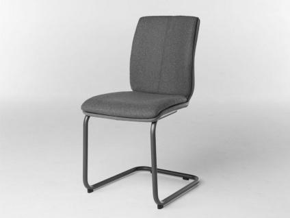Bert Plantagie Stuhl Tara Freischwinger Komfort 814C oder 817C mit Uni-Mattenpolsterung Polsterstuhl für Esszimmer Esszimmerstuhl Gestellausführung und Bezug in Leder oder Stoff wählbar