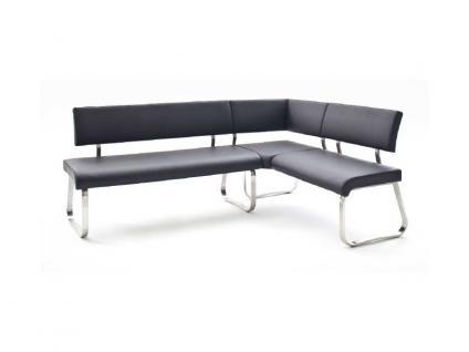MCA furniture Eckbank Arco Bezug Kunstleder 200x150 cm Gestell Flachrohr Edelstahl gebürstet Esszimmer Wohnzimmer Ausführung wählbar