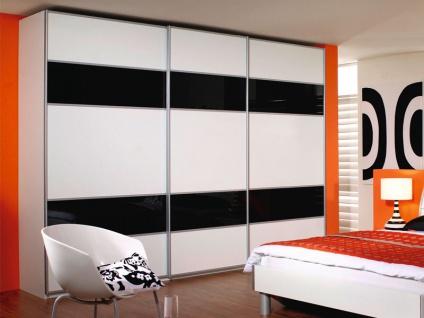 Rauch Packs Linea Ausführung N - Schwebetürenschrank, Korpus / Front wählbar, Teilfront als Glas- Spiegelauflage wählbar, in verschiedenen Größen erhältlich.