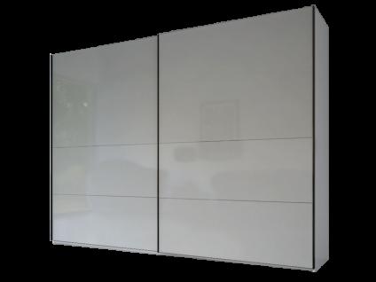 Rauch Steffen Linea Concept 20up Schwebetürenschrank Front 3B mit Vollglasfront und 2 Querrillen Schrankbreite und -höhe und Farbausführung wählbar