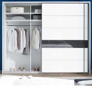 Schlafkontor Turin Schlafzimmerset bestehend aus einem 2-türigen Schwebetürenschrank und einer Bettanlage inkl. 2 Nachtkommoden und Paneel mit Glasablage sowie LED Beleuchtung - Vorschau 4