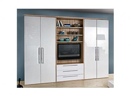 Nolte Horizont 8000 Drehtürenschrank in verschiedenen Dekoren oder Hochglanz wählbar 4-türig mit 3 Schubkästen und TV-Regal