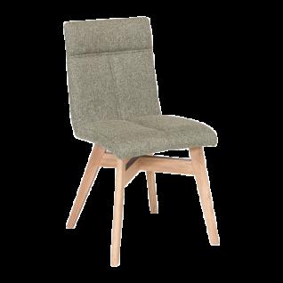 Standard Furniture Stuhl Arona Polsterstuhl mit Massivholzgestell und Schwingrücken Stuhl für Esszimmer oder Küche in drei Holzausführungen Bezug wählbar