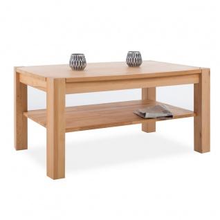 MCA Furniture Couchtisch Kalipso 58783KB2 aus Kernbuche Massivholz geölt durchgehende Lamelle bei Tischplatte und Stollen für Ihr Wohnzimmer - Vorschau 2