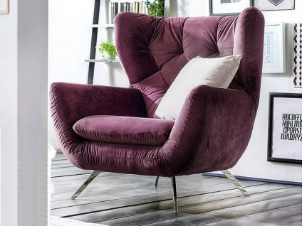 Candy Sixty Einzelsessel oder Hochlehnsessel Sessel für Wohnzimmer Bezug Stoff oder Leder wählbar