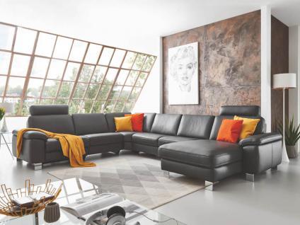 Hukla Eckkombination SofaStyle in vielen modernen Stoff- und Echtlederbezügen erhältlich, Rücken unecht