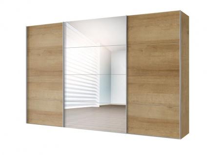Nolte Express Möbel Four You Schwebetürenschrank Breite 350 cm Korpus in Dekor Front Dekor kombiniert mit Spiegel und Höhe wählbar