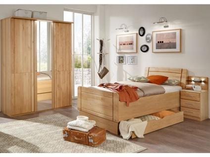 Wiemann Innsbruck Komfort Schlafzimmer 3 Teilig Teilmassiv Mit Drehturenschrank 3 Turig Mit Spiegeltur Mittig Komfortbett Und Nachtschrank