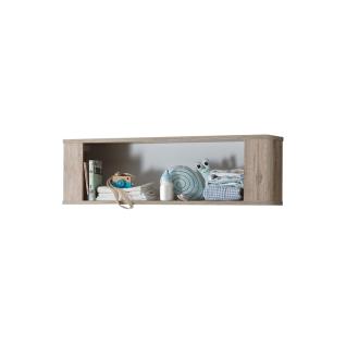 Mäusbacher Bea Hängeregal 0305_00 mit einem offenen Fach für Ihr Kinderzimmer oder Babyzimmer Regal im Dekor Sanremo hell Nachbildung und Weiß matt Lack