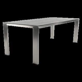 Bert Plantagie Edge Esstisch mit rechteckiger Keramik-Tischplatte Vierfußtisch für Esszimmer Tischplatten- sowie Gestellausführung und Größe wählbar
