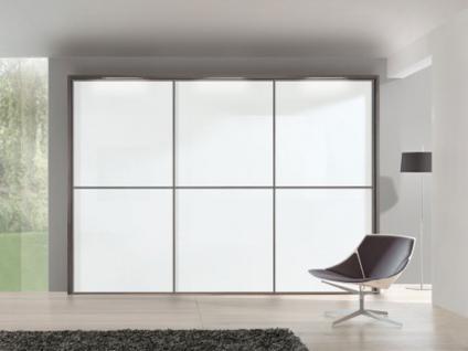 Nolte Attraction Schwebetürenschrank Ausführung 3A Front Glasauflage Farbe wählbar Schlafzimmer Kleiderschrank Dekor wählbar