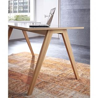 Germania Helsinki Schreibtisch 4065-161 in Anthrazit mit Absetzkanten Sonoma-Eiche-Nachbildung Arbeitstisch ca. 160 x 80 cm mit A-Füßen ideal für Homeoffice oder Büro - Vorschau 2
