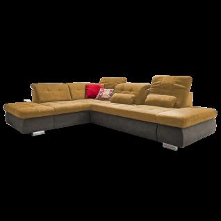 Megapol Eckgarnitur MP-IN17004 Stage mit integrierter Sitztiefen- und Kopfteilverstellung und edler Steppung in Sitz und Rücken