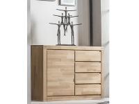 ELFO Kommode mit 1 Tür und 4 Schubkästen, Beimöbel Kernbuche Massivholz, Schlafzimmeranrichte Art. Nr. 6242, viel Stauraum für Ihr Schlafzimmer oder Wohnzimmer