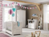 Röhr-Bush cottage Babyzimmer 4-teilig bestehend aus Babybett, Wickelkommode mit Wickelaufsatz und Kleiderschrank 2-türig
