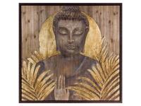 Die Faktorei by Infantil Wandbild Buddha auf Holz mit Rahmen