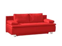 Restyl Querschläfer Joko in Rot mit Bettfunktion ca. 160 x 200 cm und geräumigen Bettkasten