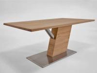 Wimmer acerro Esstisch Säulentisch Massivholz mit fester Tischplatte für Esszimmer und Küche