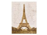 Die Faktorei by Infantil Struktur-Wandbild Eiffelturm Acrylfarben auf Leinwand