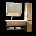 Voglauer V-Quell Badezimmer-Einrichtung Badkombination mit Korpus und Front Alteiche rustiko echtholzfurniert