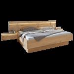 Disselkamp Cadiz Schlafzimmer Doppelbett hängende Nachtkonsolen mit Paneelaufsatz Bettschubkästen wählbar Balkeneiche Echtholz furniert mit Absetzungen in Riffholz