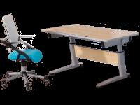 Paidi Schoolworld Falko Schreibtisch in Ahorn-Nachbildung inklusive Kinder- und Jugendstuhl Tio Farbe wählbar
