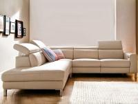 Candy Ecksofa Lazy mit Kopfteilverstellung für Wohnzimmer Bezug Stoff oder Leder wählbar