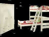 Paidi Biancomo Kinderzimmer Bestehend Aus 3 Turigen Kleiderschrank Mit 2 Schubkasten Einen Ecketagenbett Zusammengesetzt