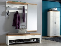 Voss Möbel Garderobe Burgos Set 7 6-teilig für Eingangsbereich mit Schuhschrank und Garderobenbank