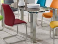 Niehoff Multi Top Tischsystem Glastisch mit 4 Fuß Gestell Esstisch Ausführung und Größe wählbar