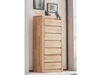 ELFO Kommode, Beimöbel Kernbuche Massivholz, 7 Schubfächer, Schlafzimmeranrichte, viel Stauraum für Ihr Schlafzimmer oder Wohnzimmer
