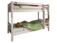 Infantil INFANSKIDS Etagenbett in Kiefer massiv mit Leiter inklusive zwei Rollrosten mit einer Liegefläche von 90 x 200 cm