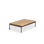 Niehoff Garden Azuri Loungetisch G293-062-000 ca. 120 x 70 cm Beistelltisch Gestell in Aluminium Anthrazit und Tischplatte in Teak Massivholz für Ihren Garten oder Terrasse
