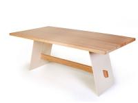 Standard Furniture Esstisch Aladin in Eiche mit fester Platte Tisch für Esszimmer Größe und Gestellausführung wählbar