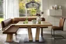 Niehoff Eckbankgruppe Scarlett Eckbank rustical oak Massivholztisch Schwingstuhl Essgruppe aus Tisch Eckbank Stuhl