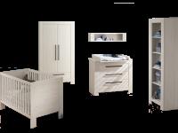 Paidi Laslo Babyzimmer 3 teilig bestehend aus Kinderbett 2-türiger Kleiderschrank mit 1 Schubkasten und Wickelkommode optional mit Standregal und Wandregal
