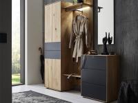 hartmann runa garderobe vorschlagskombination 100 sechsteilig aus massivholz kerneiche natur. Black Bedroom Furniture Sets. Home Design Ideas