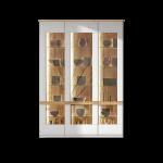 Stralsunder Binz Standelementkombination Ausführung Korpus und Fronten in Tonweiß matt mit Absetzungen in Alteiche optional mit geschroppten Rückwänden und passender Beleuchtung für Ihr Wohnzimmer