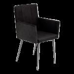 Reality Monaco R5297-02 Stuhl 2er-Set erhältlich in der Ausführung schwarz Microfaser samt Gestell Rundrohr schwarz für Ihr Esszimmer oder Wohnbereich