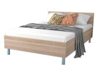 FORTE Various Beds Bettgestell mit Kopfteil in Holznachbildung Bett mit Liegefläche ca. 160 x 200 cm Dekor wählbar