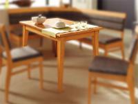 DKK Klose Esstisch T12 mit Einlegeplatte massiver Vierfußtisch Tisch für Esszimmer Größe und Holzausführung wählbar
