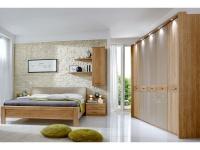 Wiemann Toledo Schlafzimmer Set in Eiche teilmassiv 4-teilig bestehend aus Kleiderschrank, Futonbett und Nachtkonsolen