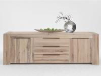 Bodahl Big Time Anrichte 10028 rustic oak Massivholz Lowboard für Wohnzimmer oder Esszimmer und sieben Ausführungen wählbar