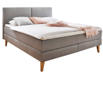 meise m bel isa boxspringbett mit kunstlederbezug gestepptem kopfteil und 7 zonen. Black Bedroom Furniture Sets. Home Design Ideas