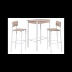 Reality Ricarda R9909-38 Bar-Set bestehend aus 1 Tisch 2 Sitzhocker weiß Absetzung Sonoma für Ihren Essbereich oder Küche