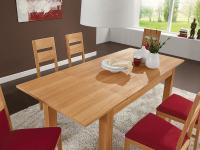 DKK Klose Esstisch T13 Vierfußtisch 7377 mit Schiebeplatte furniert Tisch für Esszimmer Größe und Holzausführung wählbar