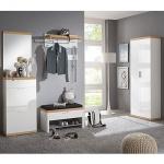 Voss-Möbel Burgos Garderoben Set 1 7-tlg. für Eingangsbereich mit Dielenschrank Schuhschrank und Garderobenbank