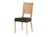 DKK Klose Stuhl S15 für Esszimmer oder Küche Polsterstuhl in modischen Stoffbezügen hochwertiger Holzrücken und Stoff-oder Metallapplikation